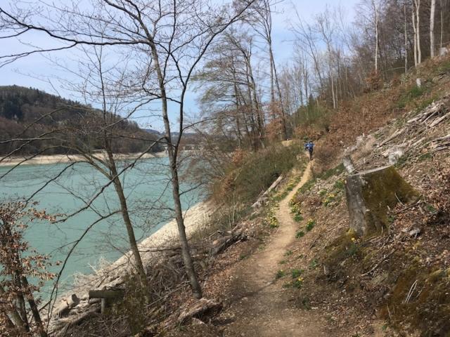 Lac de la Gruyère - Le pont de Corbière au fond