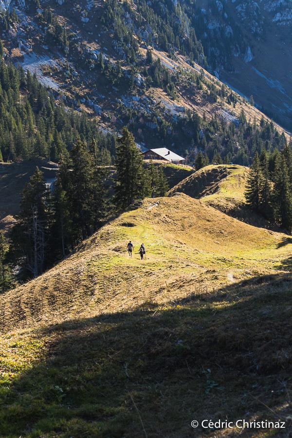 Sentier géologique des Gastlosen, chalet du soldat, chalet du régiment