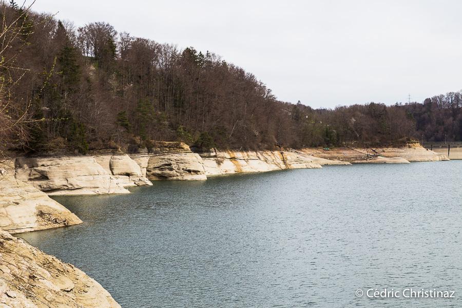 Rossens, barrage, lac de la Gruyère, île d'ogoz, ile d'ogoz