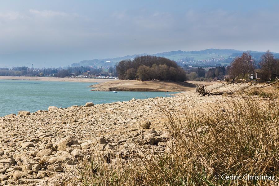 Lac de la Gruyère, le Bry, la Cantine, Ile d'Ogoz